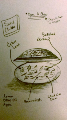 Chef Eli's drawing of the dish